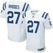 Wholesale Cheap Nike Colts #27 Xavier Rhodes White Men's Stitched NFL New Elite Jersey