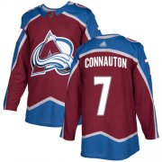 Wholesale Cheap Adidas Avalanche #7 Kevin Connauton Burgundy Home Authentic Stitched NHL Jersey