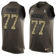 Wholesale Cheap Nike Packers #77 Billy Turner Green Men's Stitched NFL Limited Salute To Service Tank Top Jersey