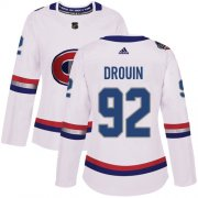 Wholesale Cheap Adidas Canadiens #92 Jonathan Drouin White Authentic 2017 100 Classic Women's Stitched NHL Jersey