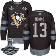 Wholesale Cheap Adidas Penguins #13 Nick Bonino Black 1917-2017 100th Anniversary Stanley Cup Finals Champions Stitched NHL Jersey