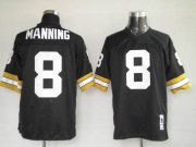 Wholesale Cheap Mitchel & Ness Saints #8 Archie Manning Black Stitched Throwback NFL Jersey