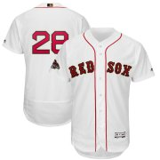 Wholesale Cheap Boston Red Sox #28 J.D. Martinez Majestic 2019 Gold Program Flex Base Player Jersey White