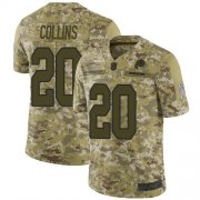 Wholesale Cheap Nike Redskins #20 Landon Collins Camo Youth Stitched NFL Limited 2018 Salute to Service Jersey