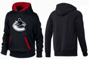 Wholesale Cheap Vancouver Canucks Pullover Hoodie Black & Red