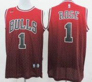 Wholesale Cheap Chicago Bulls #1 Derrick Rose Red/Black Resonate Fashion Jersey