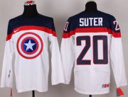 Wholesale Cheap Olympic Team USA #20 Ryan Suter White Captain America Fashion Stitched NHL Jersey