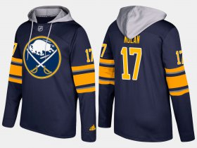 Wholesale Cheap Sabres #17 Jordan Nolan Blue Name And Number Hoodie
