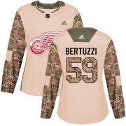 Wholesale Cheap Adidas Red Wings #59 Tyler Bertuzzi Camo Authentic 2017 Veterans Day Women's Stitched NHL Jersey