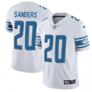 Wholesale Cheap Nike Lions #20 Barry Sanders White Men's Stitched NFL Vapor Untouchable Limited Jersey
