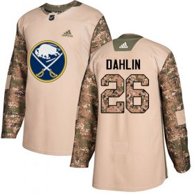Wholesale Cheap Adidas Sabres #26 Rasmus Dahlin Camo Authentic 2017 Veterans Day Youth Stitched NHL Jersey