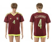 Wholesale Cheap Venezuela #4 Vizcarrondo Home Soccer Country Jersey