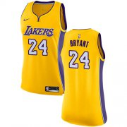 Wholesale Cheap Nike Los Angeles Lakers #24 Kobe Bryant Gold Women's NBA Swingman Icon Edition Jersey