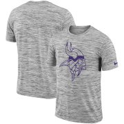 Wholesale Cheap Minnesota Vikings Nike Sideline Legend Velocity Travel Performance T-Shirt Heathered Black