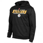 Wholesale Cheap Pittsburgh Steelers Majestic Synthetic Hoodie Sweatshirt Black