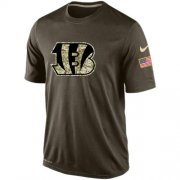 Wholesale Men's Cincinnati Bengals Salute To Service Nike Dri-FIT T-Shirt