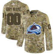 Wholesale Cheap Men's Adidas Avalanche Personalized Camo Authentic NHL Jersey