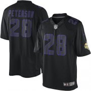 Wholesale Cheap Nike Vikings #28 Adrian Peterson Black Men's Stitched NFL Impact Limited Jersey