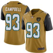 Wholesale Cheap Nike Jaguars #93 Calais Campbell Gold Men's Stitched NFL Limited Rush Jersey