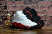 Wholesale Cheap Kids' Air Jordan 13 Chicago Shoes White/Red-black
