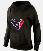 Wholesale Cheap Women's Houston Texans Logo Pullover Hoodie Black