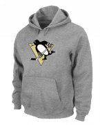 Wholesale Cheap NHL Pittsburgh Penguins Big & Tall Logo Pullover Hoodie Grey