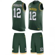 Wholesale Cheap Nike Packers #12 Aaron Rodgers Green Team Color Men's Stitched NFL Limited Tank Top Suit Jersey