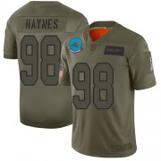 Wholesale Cheap Nike Panthers #98 Marquis Haynes Camo Men's Stitched NFL Limited 2019 Salute To Service Jersey
