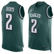 Wholesale Cheap Nike Eagles #2 Jalen Hurts Green Team Color Men's Stitched NFL Limited Tank Top Jersey