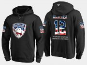 Wholesale Cheap Panthers #12 Ian Mccoshen NHL Banner Wave Usa Flag Black Hoodie