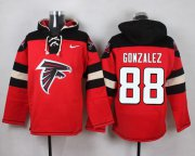 Wholesale Cheap Nike Falcons #88 Tony Gonzalez Red Player Pullover NFL Hoodie