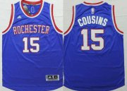 Wholesale Cheap Sacramento Kings #15 DeMarcus Cousins Revolution 30 Swingman 2014 New Blue Jersey