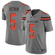 Wholesale Cheap Nike Browns #5 Case Keenum Gray Men's Stitched NFL Limited Inverted Legend Jersey