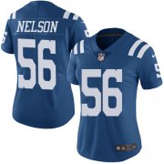 Wholesale Cheap Nike Colts #56 Quenton Nelson Royal Blue Women's Stitched NFL Limited Rush Jersey