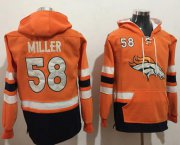Wholesale Cheap Nike Broncos #58 Von Miller Orange/Navy Blue Name & Number Pullover NFL Hoodie