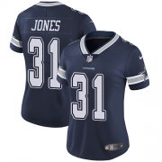 Wholesale Cheap Nike Cowboys #31 Byron Jones Navy Blue Team Color Women's Stitched NFL Vapor Untouchable Limited Jersey