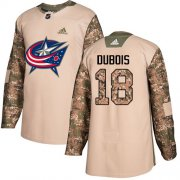 Wholesale Cheap Adidas Blue Jackets #18 Pierre-Luc Dubois Camo Authentic 2017 Veterans Day Stitched Youth NHL Jersey