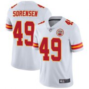 Wholesale Cheap Men's Kansas City Chiefs #49 Daniel Sorensen Vapor Untouchable Jersey - Limited White