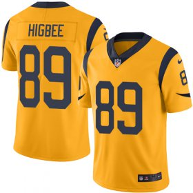 Wholesale Cheap Nike Rams #89 Tyler Higbee Gold Youth Stitched NFL Limited Rush Jersey