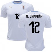 Wholesale Cheap Uruguay #12 M.Campana Away Soccer Country Jersey