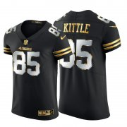 Wholesale Cheap San Francisco 49ers #85 George Kittle Men's Nike Black Edition Vapor Untouchable Elite NFL Jersey