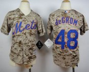 Wholesale Cheap Mets #48 Jacob DeGrom Camo Alternate Cool Base Stitched Youth MLB Jersey