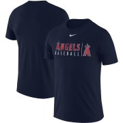 Wholesale Cheap Los Angeles Angels Nike MLB Practice T-Shirt Navy