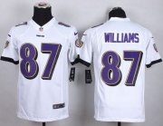 Wholesale Nike Ravens #87 Maxx Williams White Youth Stitched NFL New Elite Jersey