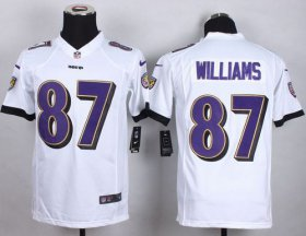 Wholesale Cheap Nike Ravens #87 Maxx Williams White Youth Stitched NFL New Elite Jersey