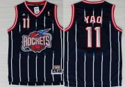 Wholesale Cheap Houston Rockets #11 Yao Ming ABA Hardwood Classic Swingman Navy Blue Jersey