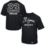 Wholesale Cheap Los Angeles Kings #23 Dustin Brown Reebok No. 23 Locker Status Name & Number Speed Wick T-Shirt Black