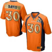 Wholesale Cheap Nike Broncos #30 Terrell Davis Orange Team Color Men's Stitched NFL Game Super Bowl 50 Collection Jersey