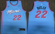 Wholesale Cheap Nike Heat #22 Jimmy Butler 2019-20 Men's Blue Miami City Edition NBA Jersey