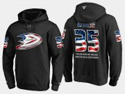 Wholesale Cheap Ducks #35 Jean Sebastien NHL Banner Wave Usa Flag Black Hoodie